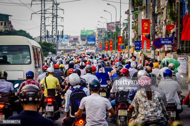hanoi traffic vietnam - vietnam stock pictures, royalty-free photos & images