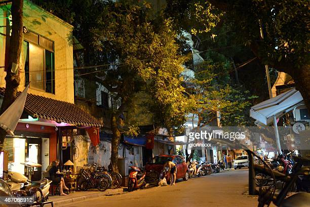 Hanoi's old quarter, Vietnam - night scene