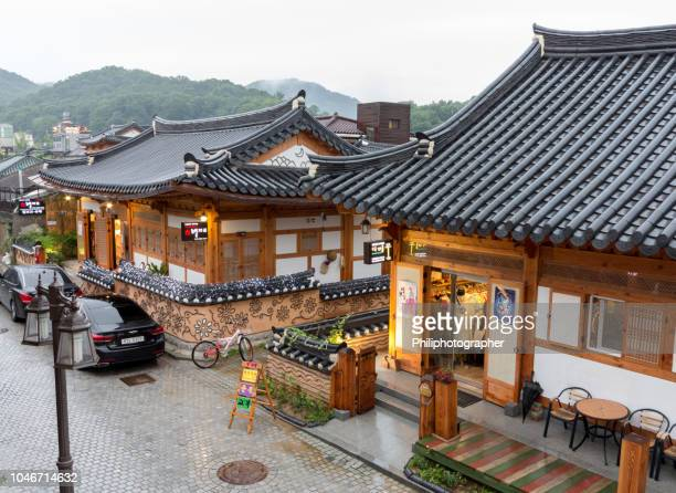 hanok village in jeonju - jeonju stock pictures, royalty-free photos & images