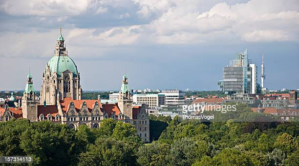 hannover skyline - hanover germany stock pictures, royalty-free photos & images