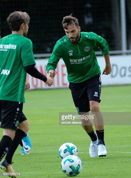 Hanover's Kenan Karaman in action during a training session in the HDI Arena in Hanover Germany 16 June 2017 Hanover will be playing in the German...