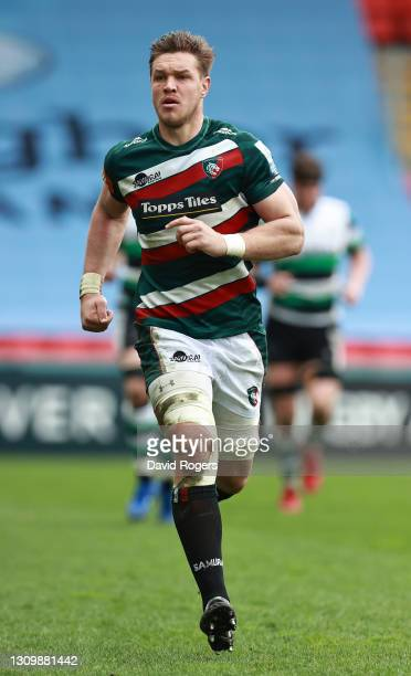 Hanro Liebenberg of Leicester Tigers looks on during the Gallagher Premiership Rugby match between Leicester Tigers and Newcastle Falcons at Welford...