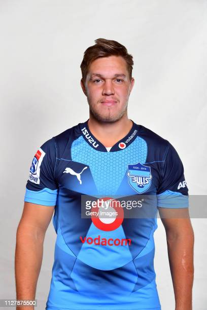 HanroLiebenberg poses during the Bulls 2019 Super Rugby Headshots Session on February 5 2019 in Pretoria South Africa