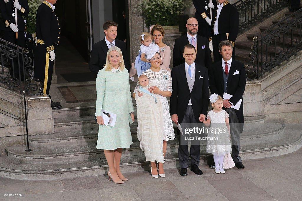 Christening of Prince Oscar of Sweden : ニュース写真