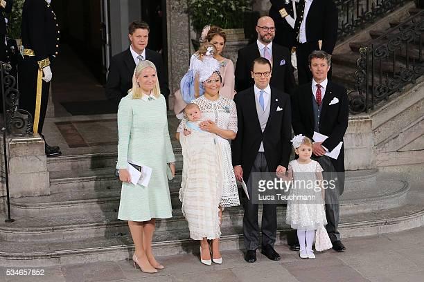 Hans Astrom Princess Madeleine of Sweden Princess Leonore of Sweden Oscar Magnuson Crown Princess MetteMarit of Norway Crown Princess Victoria of...
