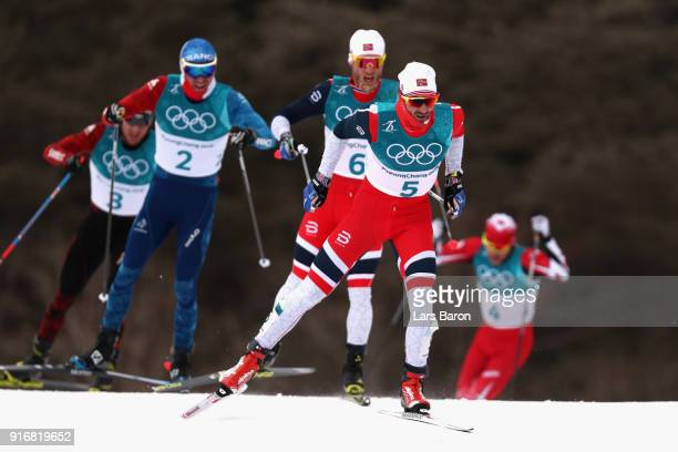 Hans Christer Holund of Norway competes during the Men's 15km and 15km Skiathlon CrossCountry Skiing on day two of the PyeongChang 2018 Winter...