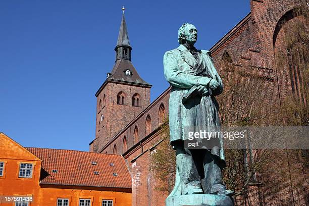 hans christian andersen in his home town odense - authors stock photos and pictures