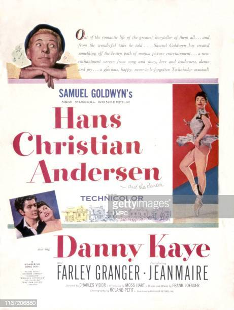 Hans Christian Andersen poster Danny Kaye Farley Granger Jeanmarie 1952