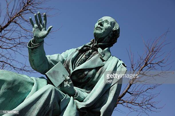 hans christian andersen world famous poet in copenhagen - pejft stock pictures, royalty-free photos & images