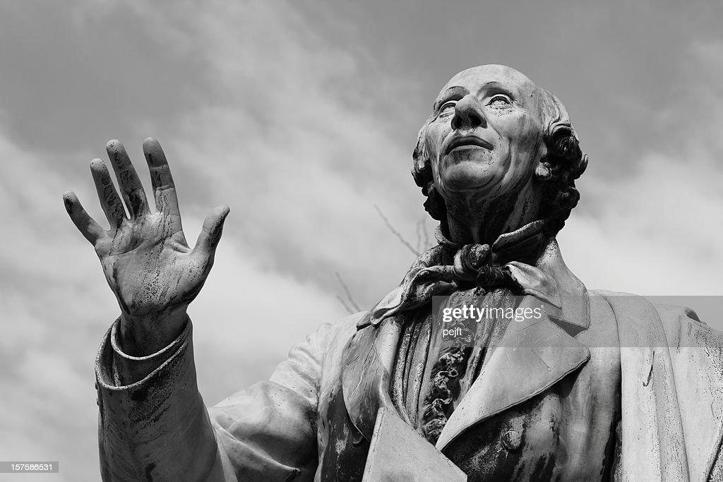 Hans Christian Andersen world famous poet in Kongens Have : Stock Photo