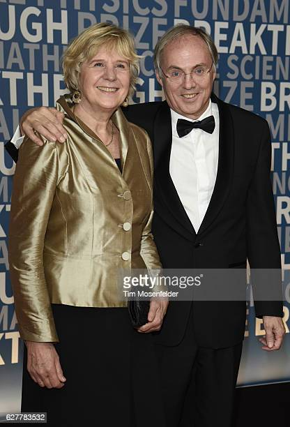 Hans Clevers and guest attend the 5th Annual Breakthrough Prize Ceremony at NASA Ames Research Center on December 4 2016 in Mountain View California
