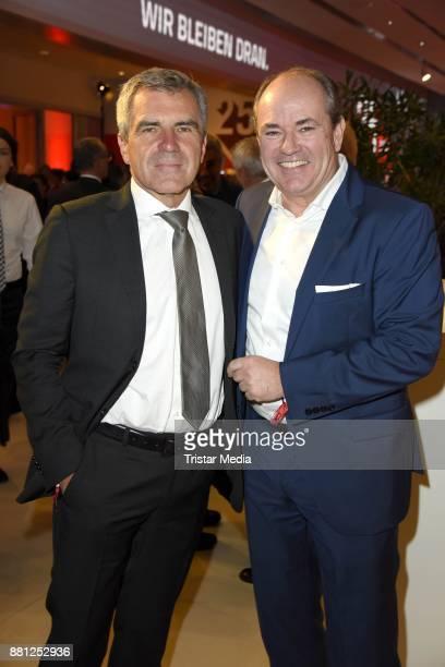 Hans Demmel and Wolfram Kons attend the 25 years anniversary ntv event at Bertelsmann Repraesentanz on November 28 2017 in Berlin Germany