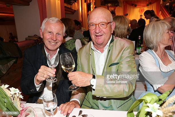 Hans Dieter Cleven and Alois Hartl during a bavarian evening ahead of the Kaiser Cup 2016 on July 15 2016 in Bad Griesbach near Passau Germany