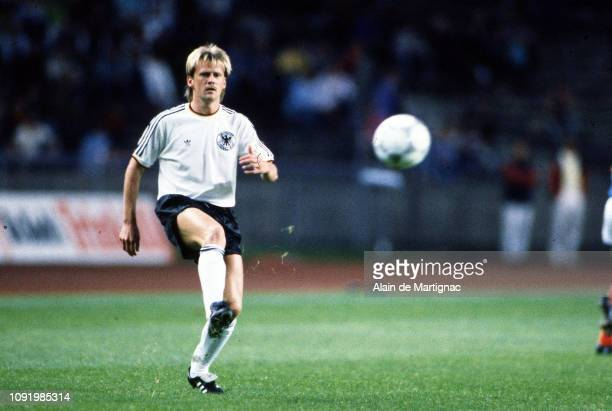 Hans Dorfner of FRG during the International Friendly match between FRG Federal Republic of Germany and France on august 12 1987 in Berlin Germany