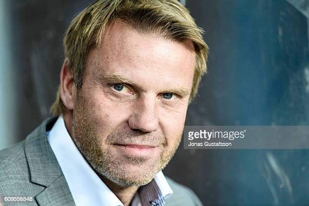 Hans Eklund head coach of Falkenbergs FF during the allsvenskan match between Kalmar FF and Falkenbergs FF at Guldfageln Arena on September 21 2016...