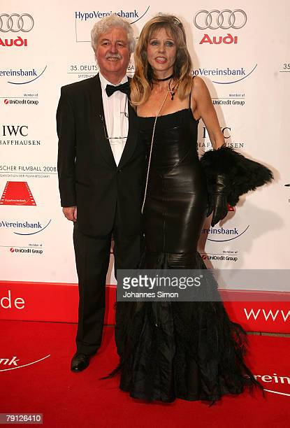 Hans Georg Muth and his wife Gisela arrive for the German film ball at Hotel Bayerischer Hof January 19 2008 in Munich Germany