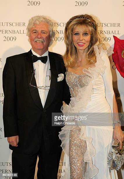 Hans Georg Muth and his wife Gisela arrive for the German Opera Ball 2009 at the Alte Oper on February 28 2009 in Frankfurt Germany