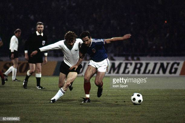 Hans Georg Schwarzenbeck of West Germany and Jovan Acimovic of Yugoslavia during the European Championship match between West Germany and Yugoslavia...