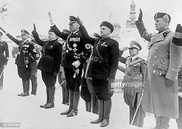Hans Georg von Mackensen at the Tomb of the Unknown Soldier in Rome. April 12th 1938. Photograph. Hans Georg von Mackensen am Grabmal des Unbekannten...