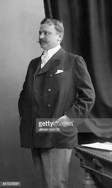 Hans Gregor dircetor of the Komische Oper Berlin Portrait by Atelier Kegel 1905