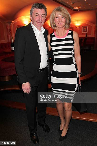 Hans Haas Tantris Muenchen and his wife Ina attend the Gala 'Nacht der Koeche' during the 17th 'SterneCup der Koeche' skiing competition for...