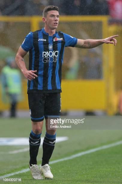 Hans Hateboer of Atalanta BC gestures during the Serie A match between Atalanta BC and Parma Calcio at Stadio Atleti Azzurri d'Italia on October 27...