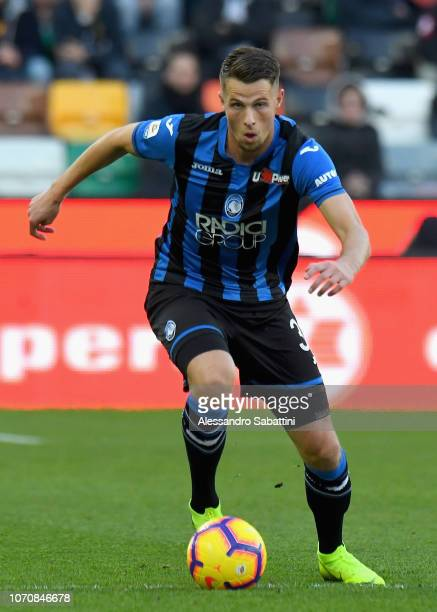 Hans Hateboer of Atalanta BC in action during the Serie A match between Udinese and Atalanta BC at Stadio Friuli on December 9 2018 in Udine Italy