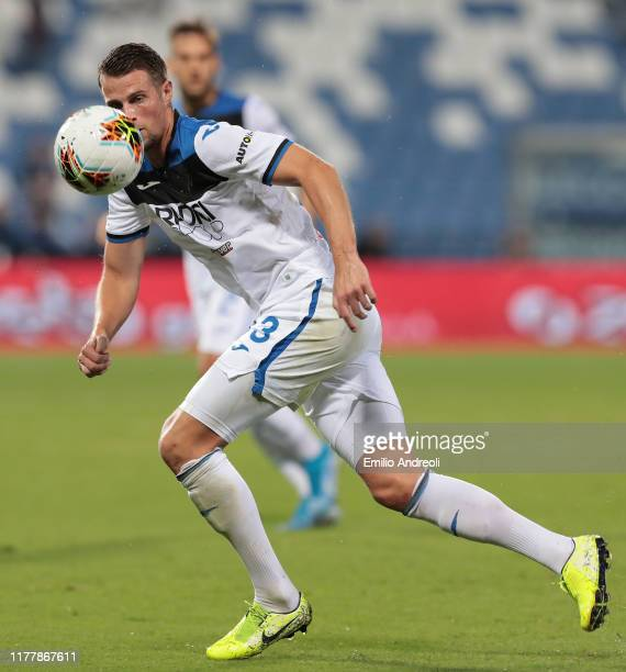 Hans Hateboer of Atalanta BC in action during the Serie A match between US Sassuolo and Atalanta BC at Mapei Stadium Citta del Tricolore on September...