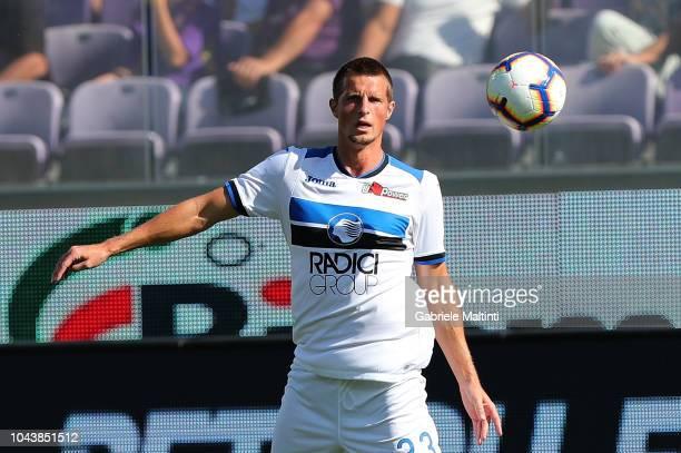Hans Hateboer of Atalanta BC looks at the ball during the Serie A match between ACF Fiorentina and Atalanta BC at Stadio Artemio Franchi on September...