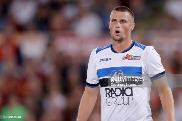 Hans Hateboer of Atalanta Bergamo during the Italian Serie A match between AS Roma v Atalanta Bergamo at the Stadio Olimpico Rome on August 27 2018...