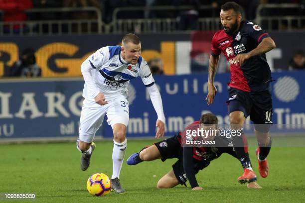 Hans Hateboer of Atalanta in action during the Serie A match between Cagliari and Atalanta BC at Sardegna Arena on February 4 2019 in Cagliari Italy