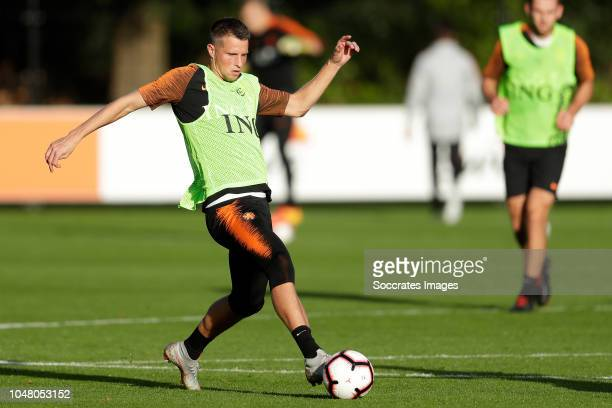 Hans Hateboer of Holland during the Training Holland at the KNVB Campus on October 9 2018 in Zeist Netherlands