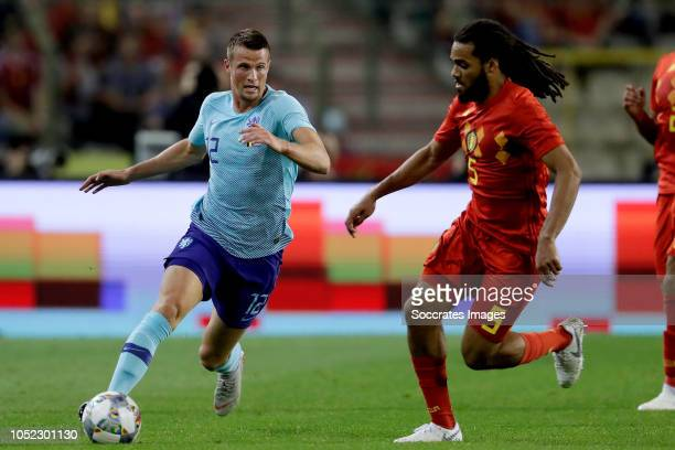 Hans Hateboer of Holland Jason Denayer of Belgium during the International Friendly match between Belgium v Holland on October 16 2018