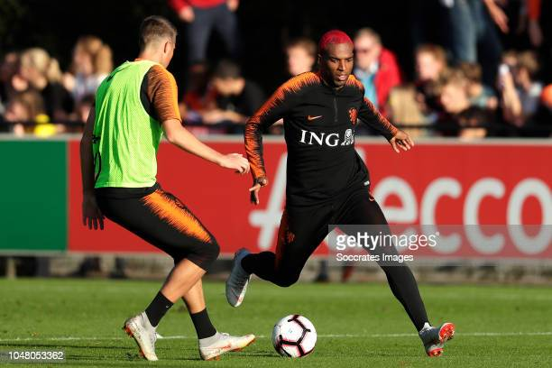 Hans Hateboer of Holland Ryan Babel of Holland during the Training Holland at the KNVB Campus on October 9 2018 in Zeist Netherlands