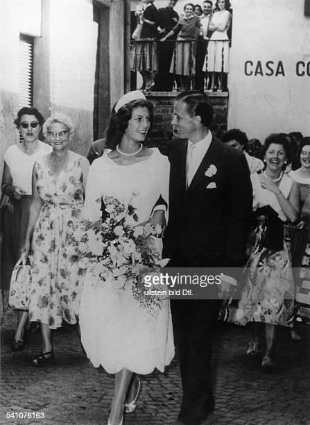 Hans Heinrich ThyssenBornemisza*Unternehmer Industrieller Kunstsammler Schweizmit Ehefrau Fiona geb CampbellWalter nach der Hochzeit in Lugano