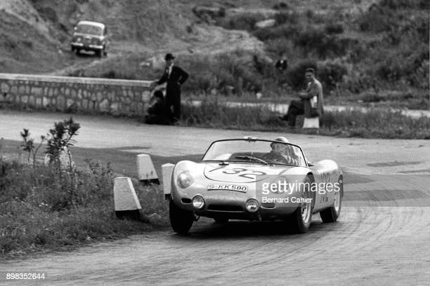 Hans Herrmann Edgar Barth Porsche 718 RS61 Targa Florio Sicily 30 April 1961
