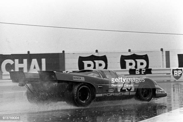 Hans Herrmann Porsche 917K 24 Hours of Le Mans Le Mans 14 June 1970 The victorious Porsche 917 of Hans Herrmann and Richard Attwood in the 1970 24...