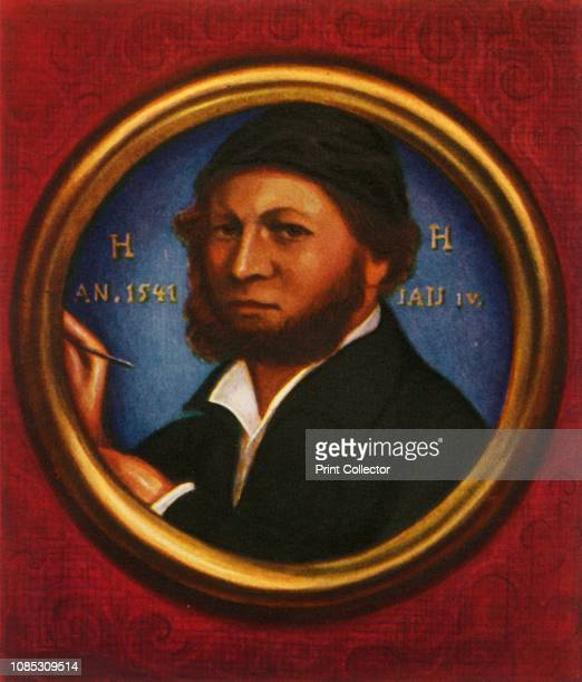 Hans Holbein der Jüngere' Self portrait of German artist Hans Holbein the Younger court painter to King Henry VIII of England After a miniature by...