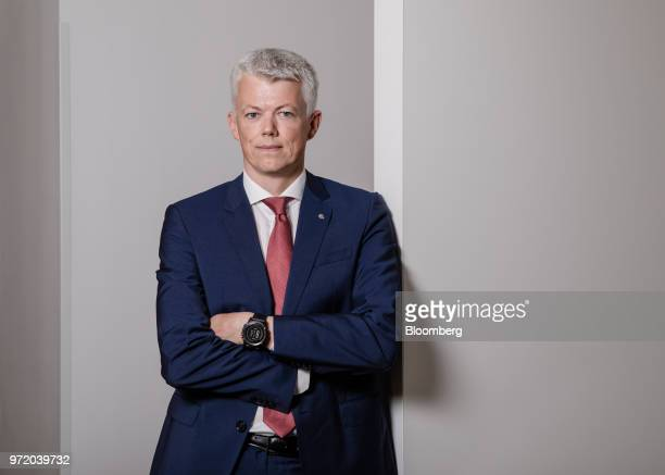 Hans Jakob Hegge chief financial officer of Equinor ASA poses for photograph ahead of a Bloomberg Television interview in Paris France on Tuesday...
