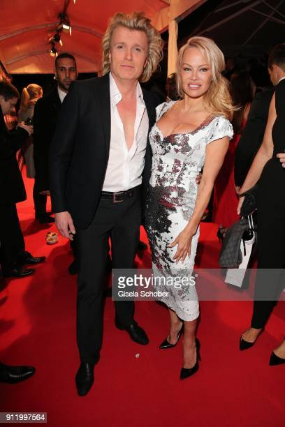 Hans Klok and Pamela Anderson during the 20th Lambertz Monday Night 2018 at Alter Wartesaal on January 29 2018 in Cologne Germany
