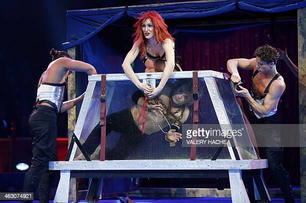 Hans Klok performs during the 38th MonteCarlo International Circus Festival in Monaco on January 16 2014 The International Circus Festival will take...