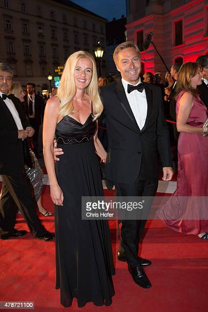 Hans Knauss with his wife Barbara attend the Fete Imperiale 2015 on June 26, 2015 in Vienna, Austria.