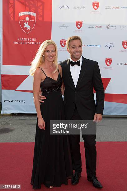 Hans Knauss with his wife Barbara attend the gala event 450 years Spanische Hofreitschule on June 26, 2015 in Vienna, Austria.