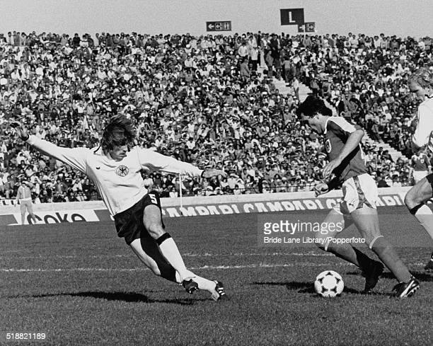 Hans Krankl of Austria on the ball during a World Cup second round group A match against West Germany at Estadio Chateau Carreras Córdoba Argentina...