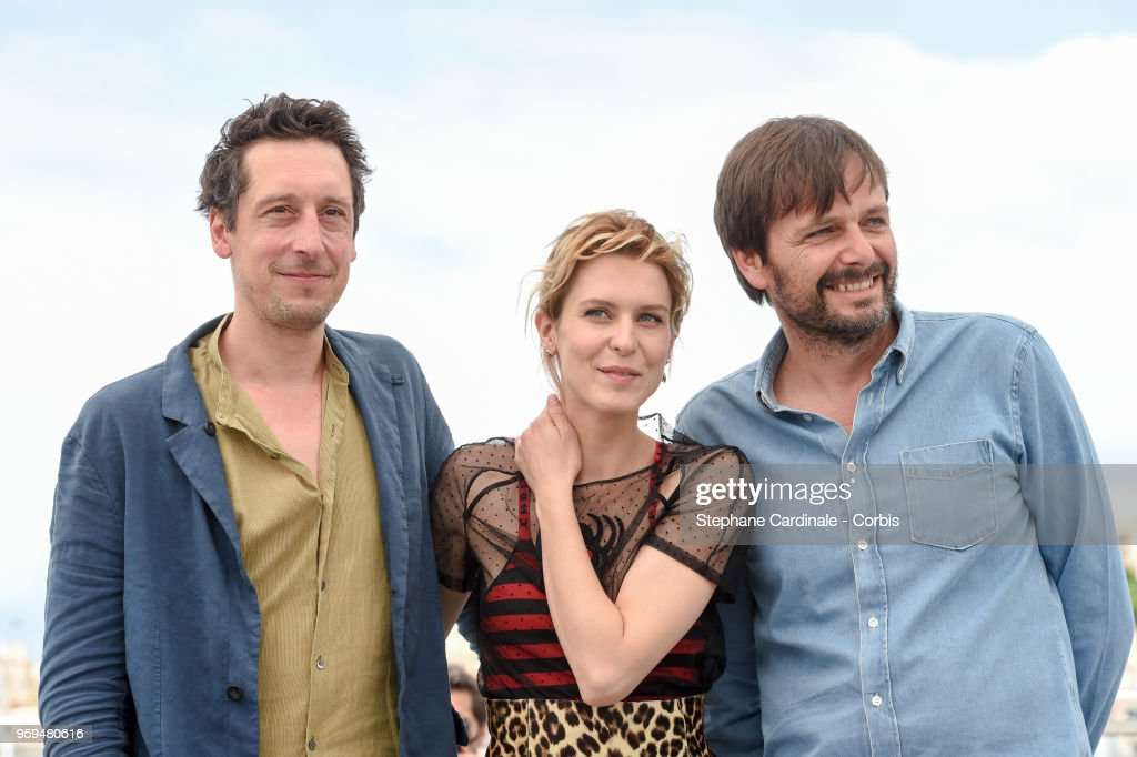 Hans Loew, Elena Radonicich and director Ulrich Koehler attend 'In My Room' Photocall during the 71st annual Cannes Film Festival at Palais des Festivals on May 17, 2018 in Cannes, France.
