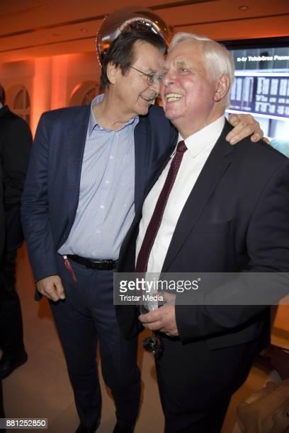 Hans Mahr and Heiner Bremer attend the 25 years anniversary ntv event at Bertelsmann Repraesentanz on November 28 2017 in Berlin Germany