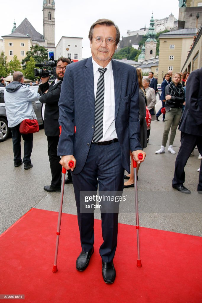 Hans Mahr attends the 'La Clemenzia di Tito' premiere during the Salzburg Festival 2017 (Salzburger Festspiele) on July 27, 2017 in Salzburg, Austria.