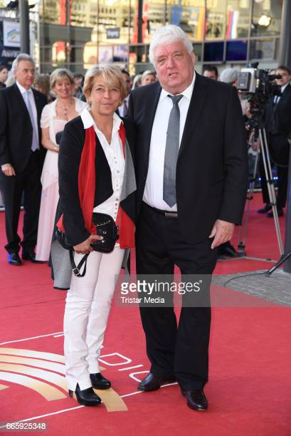 Hans Meiser and guest attend the Radio Regenbogen Award 2017 at EuropaPark on April 7 2017 in Rust Germany