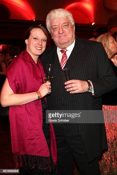 Hans Meiser and his daughter Anouk during the Lambertz Monday Night 2015 at Alter Wartesaal on February 2 2015 in Cologne Germany