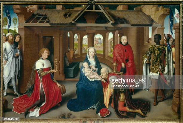 Hans Memling Triptych of the Adoration of the Magi Central Part 14701472 Oil on panel95 x 271 m Madrid museo del Prado